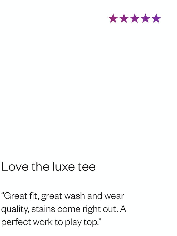 Debra E. Review of Women's Luxe Touch Tee