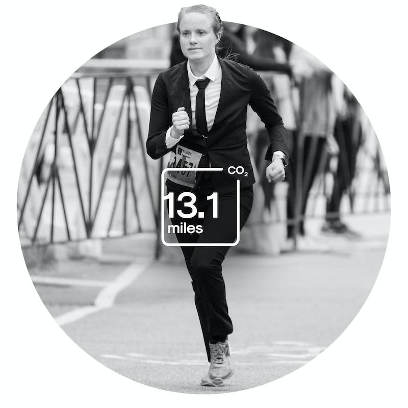 Woman Running Half Marathon