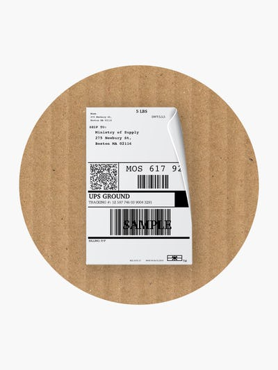 Ministry of Supply Shipping Label