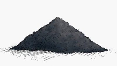 pile of coffee grounds