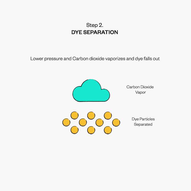 CO2 Waterless Dye Separation