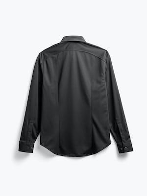 men's black apollo sport shirt flat shot of back