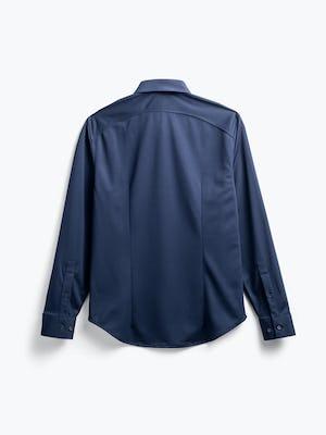 men's navy apollo sport shirt flat shot of back