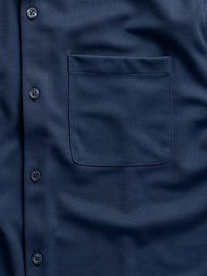 men's navy apollo sport shirt zoomed shot of pocket