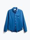 men's royal blue apollo sport shirt flat shot of front