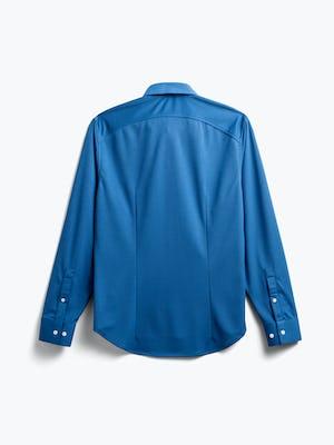 men's royal blue apollo sport shirt flat shot of back