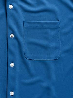 men's royal blue apollo sport shirt zoomed shot of pocket