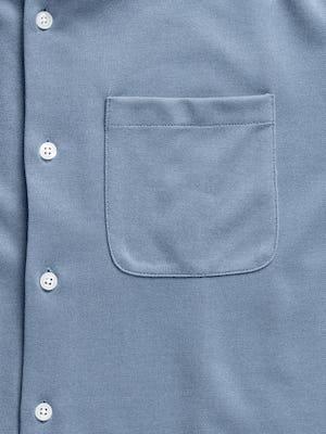 men's slate blue apollo sport shirt zoomed shot of pocket