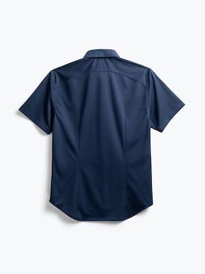 men's navy apollo short sleeve sport shirt flat shot of back