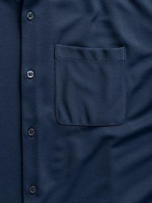 men's navy apollo short sleeve sport shirt zoomed shot of pocket