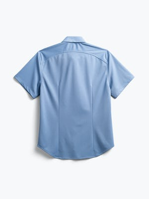 men's steel blue apollo short sleeve sport shirt flat shot of back