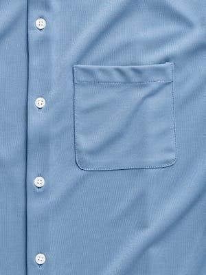 men's steel blue apollo short sleeve sport shirt zoomed shot of pocket