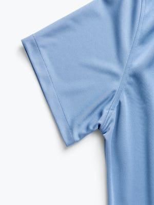 men's steel blue apollo short sleeve sport shirt zoomed shot of sleeve