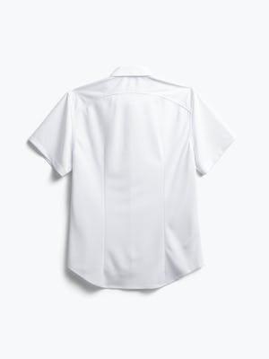 men's white apollo short sleeve sport shirt flat shot of back