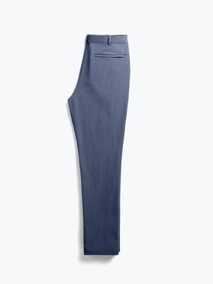 men's faded indigo pace tapered chino flat shot of back folded