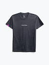 charcoal heather science for better tee flat shot of front