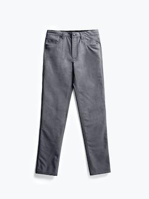 men's medium grey kinetic twill 5 pocket pant flat shot of front