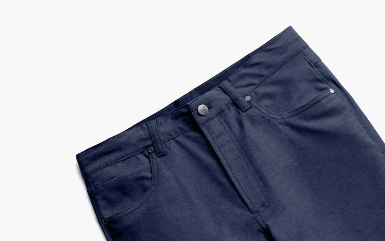 mens navy kinetic twill five pocket pant