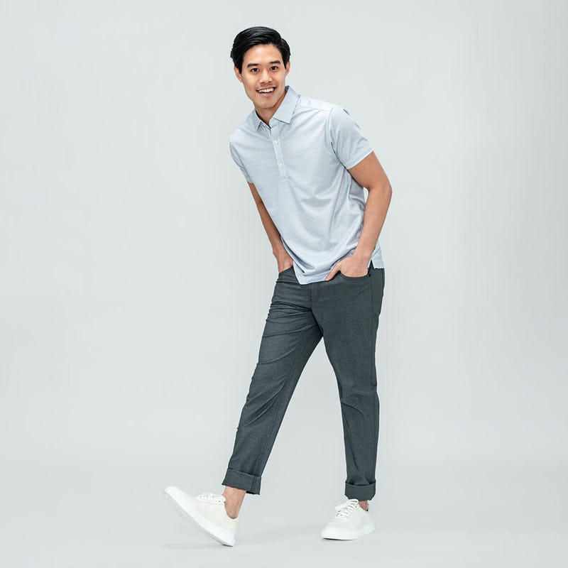 Men's Apollo Polo and Kinetic Twill 5-Pocket Pant on model
