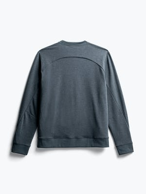 men's dark charcoal fusion terry sweatshirt flat shot of back