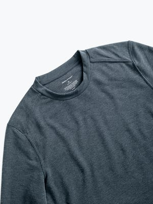 men's dark charcoal fusion terry sweatshirt zoomed shot of front