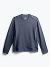 men's navy fusion terry sweatshirt flat shot of front