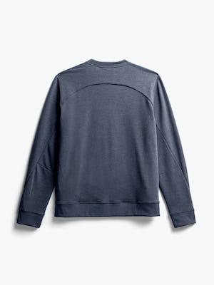 men's navy fusion terry sweatshirt flat shot of back