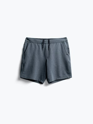 men's dark charcoal fusion terry shorts flat shot of front