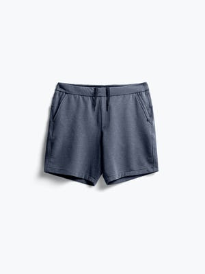 men's navy fusion terry shorts flat shot of front