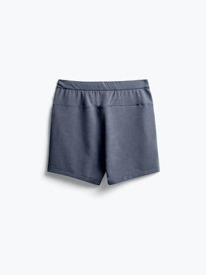 men's navy fusion terry shorts flat shot of back