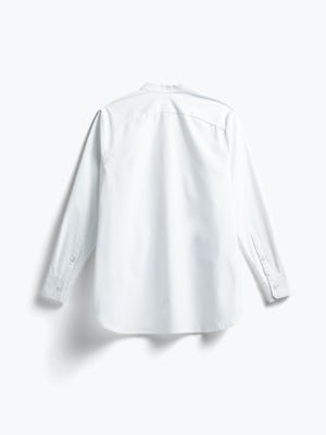 women's white aero zero band collar tunic flat shot of back