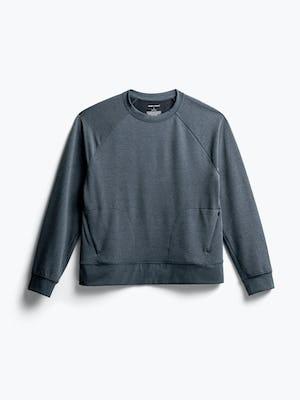 Front of Women's Dark Charcoal Fusion Terry Sweatshirt