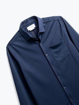 men's navy apollo sport shirt zoomed shot of front