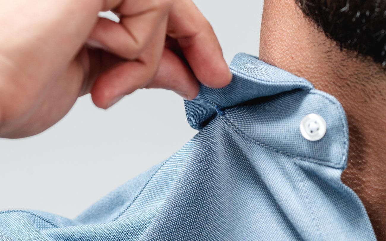 men's apollo sport shirt stitched-down collar