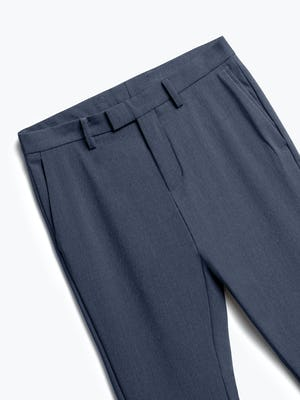 men's azurite heather velocity dress pant zoomed shot of front