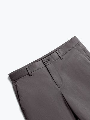 Close up of Men's Charcoal Heather Kinetic Shorts front