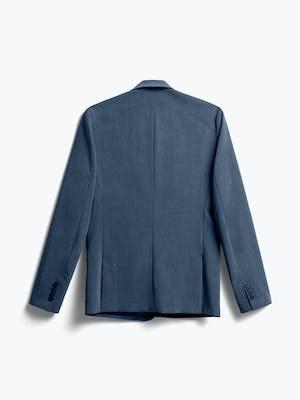 men's azurite heather velocity suit jacket flat shot of back