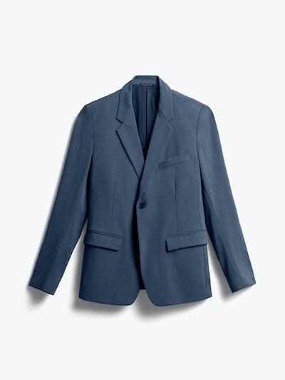 men's azurite heather velocity suit jacket flat shot of front
