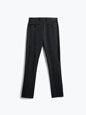 men's black wool velocity dress pant flat shot of back