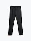 men's black wool velocity dress pant flat shot of front