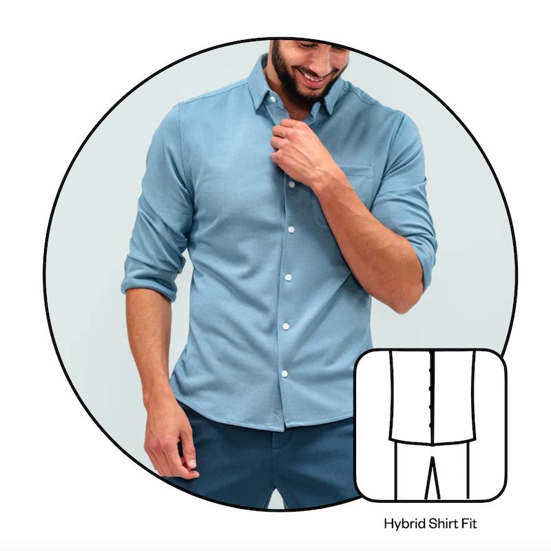 Hybrid Un-tucked / Tucked Fit