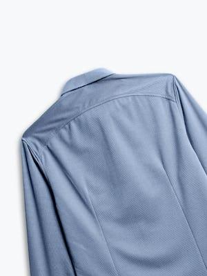 zoomed shot of men's slate blue apollo dress shirt back