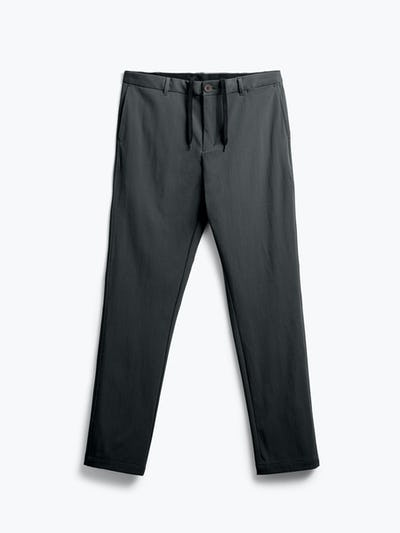 men's black pace tapered chino flat shot of front