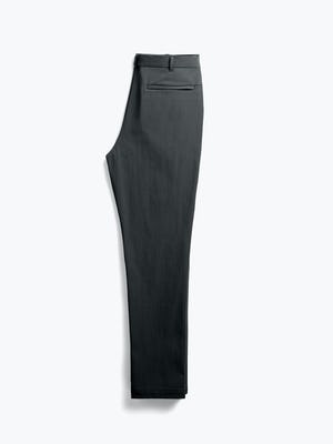 men's black pace tapered chino flat shot of back folded