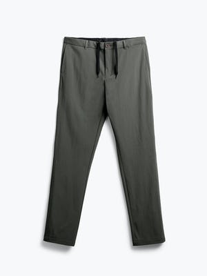 men's olive pace tapered chino flat shot of front