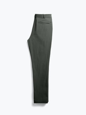 men's olive pace tapered chino flat shot of back folded