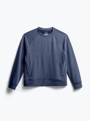 Women's Navy Fusion Terry Sweatshirt