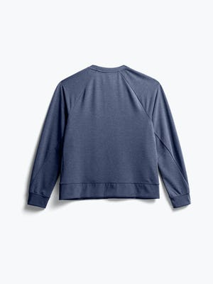 Back of Women's Navy Fusion Terry Sweatshirt