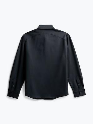Men's Black Fusion Overshirt flat shot of back