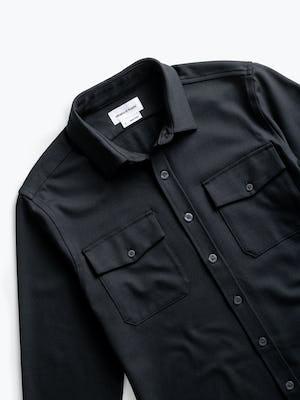 Men's Black Fusion Overshirt zoomed shot of front